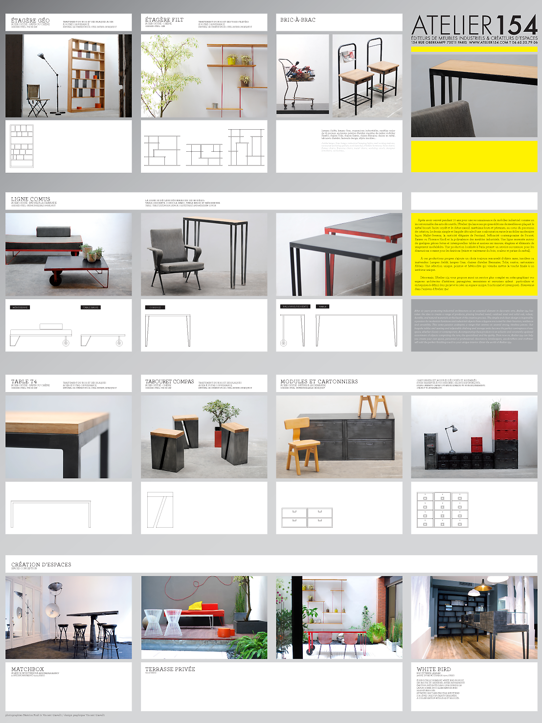 ATELIER 154/ INFLUENCES MODERNISTES, COULEURS FRANCHES, QUADRILLAGES ...